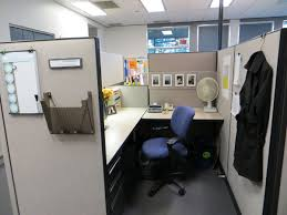 decorate your office desk. decor office desk with l shape and divider in white black color blue chair decorate your