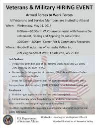 From Armed Forces To Work Forces Veterans Job Fair Goodwill