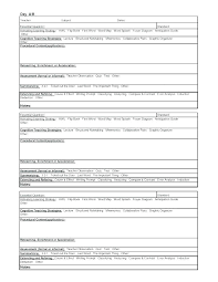 General Lesson Plan Outline Template Free Teaching Format