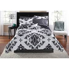 black and white bed covers. Brilliant White Mainstays Classic Noir TwinTwinXL Bed In A Bag Coordinating Bedding Set  Black  Walmartcom In And White Covers