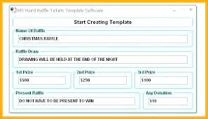 Event Ticket Template Word Numbered Ticket Template