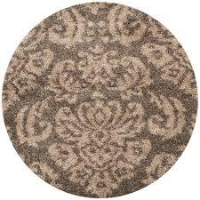 safavieh florida smoke beige 5 ft x 5 ft round area rug