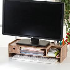 yui monitor riser cabinet wooden diy computer desktop table drawer