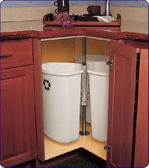 trash/recycling cans in corner cabinet, spin like lazy susan ...