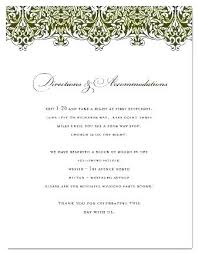 Wedding Map Template Wedding Directions Template Accommodation Cards