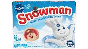 Have the kids help by using their thumbprint to make way for the jam. Pillsbury Shape Snowman Sugar Cookie Dough Pillsbury Com