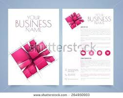 Two Page Brochure Template Two Page Brochure Template Stylish Business Or Flyer Presentation