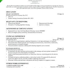 experienced rn resume sample new grad rn resume example with no experience graduate nurse cover