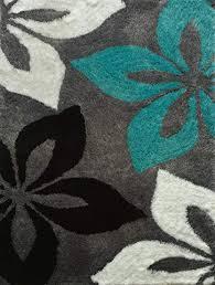 Black and turquoise rug Chocolate Brown Image Unavailable Amazoncom Amazoncom Lola Shag Viscose Black White Turquoise Area Rug Hand