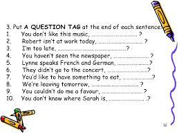 Resultado de imagen de tag questions