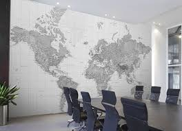 office feature wall ideas. This Super Swish Meeting Room Used A Large Black And White World Map As Powerful Feature Wall. Not Only Subtly Alludes To The Idea Of Globalisation Office Wall Ideas U