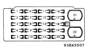 toyota land cruiser 1989 toyota landcruiser aircon fuse blown full size image