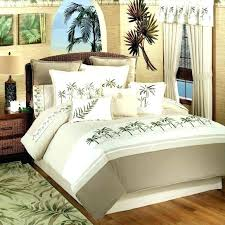 palm tree bedspread sets cream duvet cover set layered on queen bedding quilt