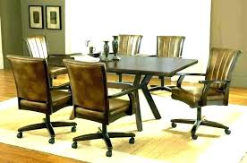 kitchen chairs with wheels dining chairs on casters elegant modern