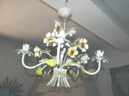 antique tole chandelier flower french lamp flowers for view 6 of vintage antique tole chandelier french lamp flowers