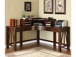 wooden corner desk. Wood Desks Home Office. Teak Office Furniture Dark Brown Varnished Corner Desk Which Wooden