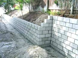 likeable concrete retaining wall cost cinder block building