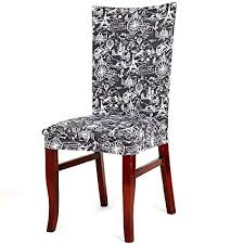 uxcell stretch washable short dining room chair protector cover slipcovers home decor 2