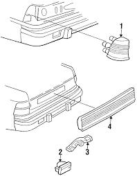 Genuine chrysler lebaron backup l assembly 4321560