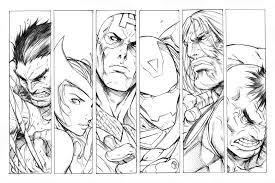 Avengers Coloring Pages Coloringrocks
