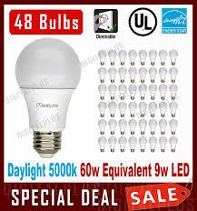 Cree 60w Equivalent Daylight 5000k A19 Dimmable Led Light Bulb Lot Of 48 Maxlite 9w Led Bulb 60 Watt Replace A19 Daylight 5000k Led Light 60w