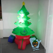 indoor decoration inflatable christmas tree with rainbow gift boxes
