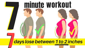 7 Day Workout Challenge To Lose Belly Flab 7 Minute Home Workout For Men Women To Lose Weight