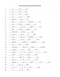 balance chemical equations worksheet equation chemistry practice reactions doc balance jennarocca best ideas of workshe