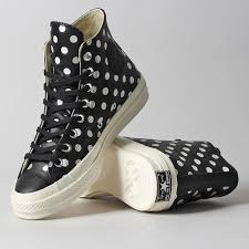 converse shoes black. converse chuck taylor all star 70 hi polka dots shoes black