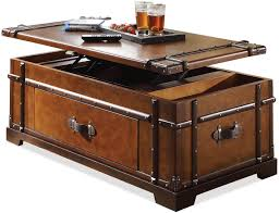 Steamer Trunk Furniture Latitudes Steamer Trunk Lift Top Coffee Table By Riverside Mikes
