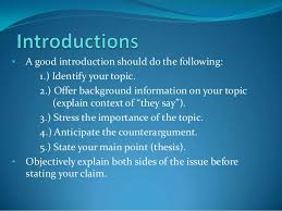 writing good introductions research papers sample introduction monash university