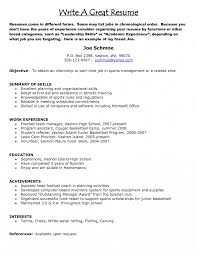Assistance In Writing A Resumes Resumes To Tjfs Journal Org