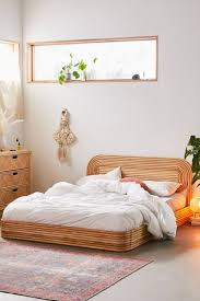Bohemian bedroom furniture Beach Ria Rattan Bed Urban Outfitters Bohemian Bedroom Decor Furniture Art More Urban Outfitters