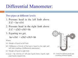 differential manometer. 36 differential manometer: manometer