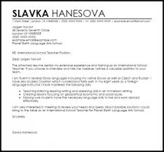 Collection Of Solutions International School Teacher Cover Letter
