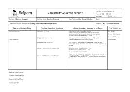 Job Hazard Analysis Risk Assessment Form Download Template
