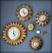 vintage sunburst clock vintage sunburst clocks by vintage elgin starburst wall clock