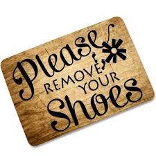 Doormat please remove shoes doormat images : Please Remove Your Shoes Doormat Rubber Indoor/Outdoor Home Floor ...