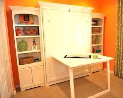 queen murphy bed with desk horizontal