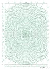 Green Polar Coordinate Circular Grid Graph Paper Buy This