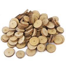 Log Crafts Aliexpresscom Buy 100pcs 1 3cm Wood Log Slices Discs For Diy