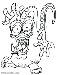 Monster Coloring Pages Silly Monster Coloring Pages Funny Monster