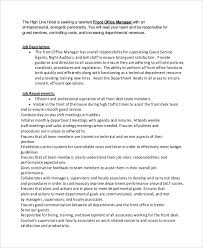 office manager sample job description sample office manager job description 9 examples in pdf word