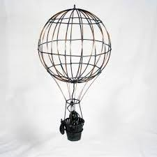 Whimsical Wire Hanging Hot Air Balloon with Basket by DIYKolby, $45.00 |  WedFest | Pinterest | Hot air balloons, Air balloon and Whimsical