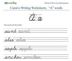 Cursive - Learn Cursive Letters