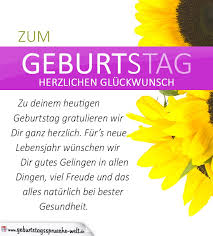 Schlichte Geburtstagskarte Mit Sonnenblumen Und Glückwünschen