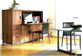 solid oak hidden home. Hidden Home Office Desk Solid Oak T