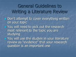Write Literature Review Format Template Free