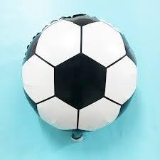 free 10pcs 18 inch aluminum football balloon for decoration birthday wedding party soccer ball foil balloon supplies ballons accessories
