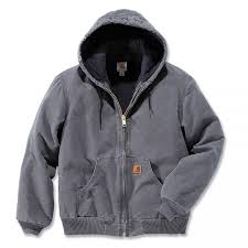 Carhartt Quilt Flannel Lined Sandstone Active Jacket | Aceworkgear.com & Carhartt Quilted Flannel Lined Sandstone Active Jacket - Gravel Adamdwight.com